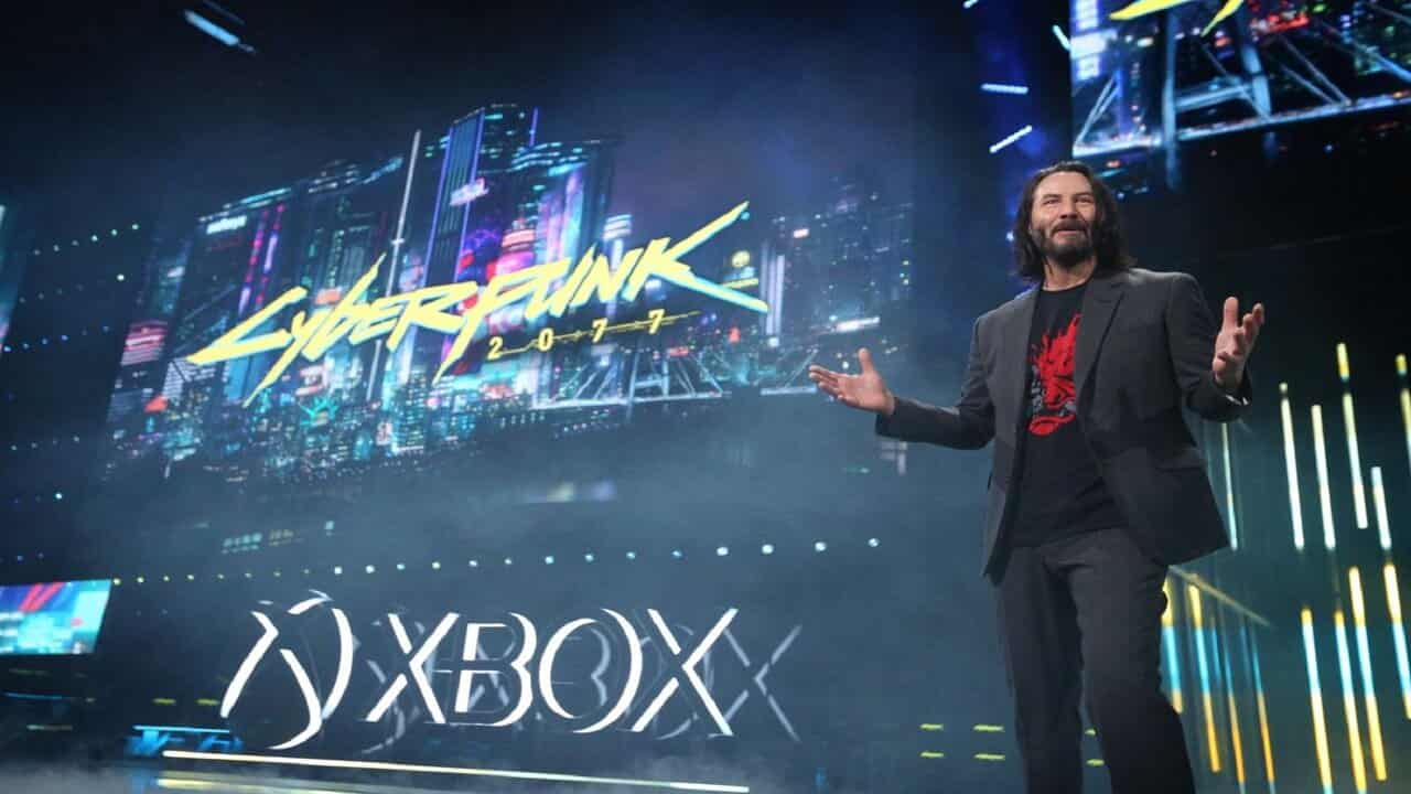 il divo Keanu Reeves alla presentazione del gioco