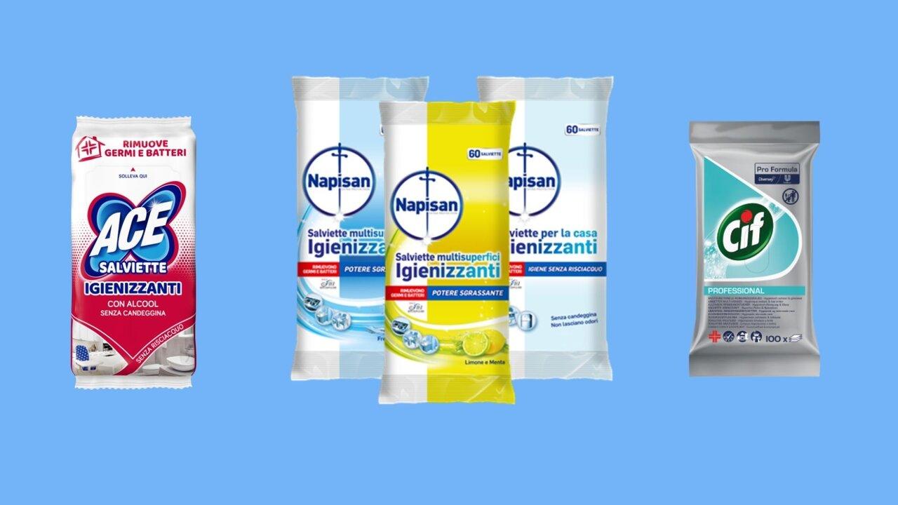 vari tipi di prodotti igienizzante