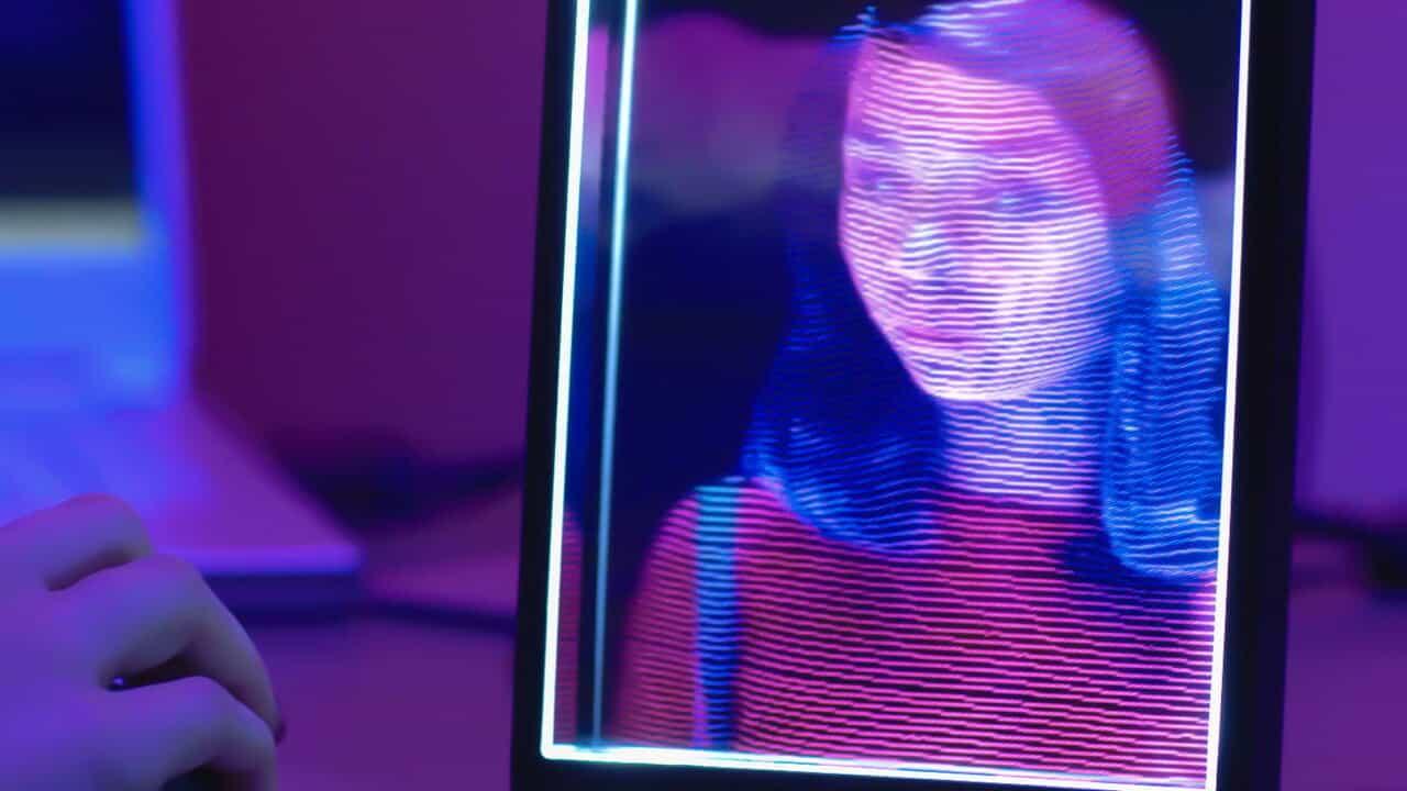 looking glass portrait