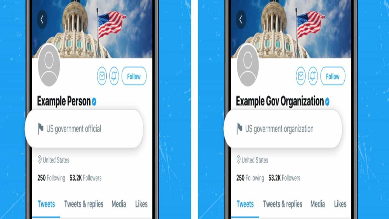 etichetta twitter account governativi