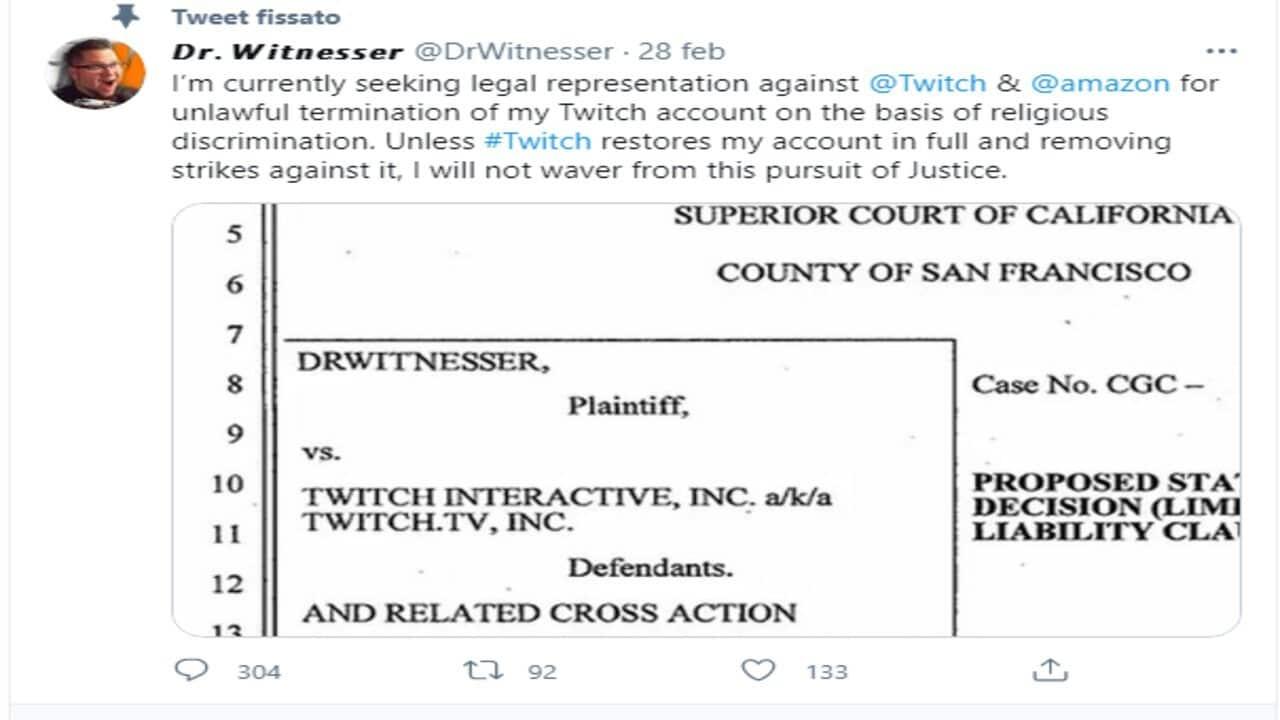 twitch discriminazione religiosa