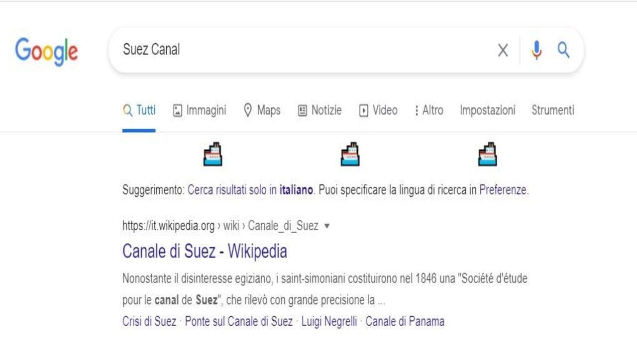google canale di suez