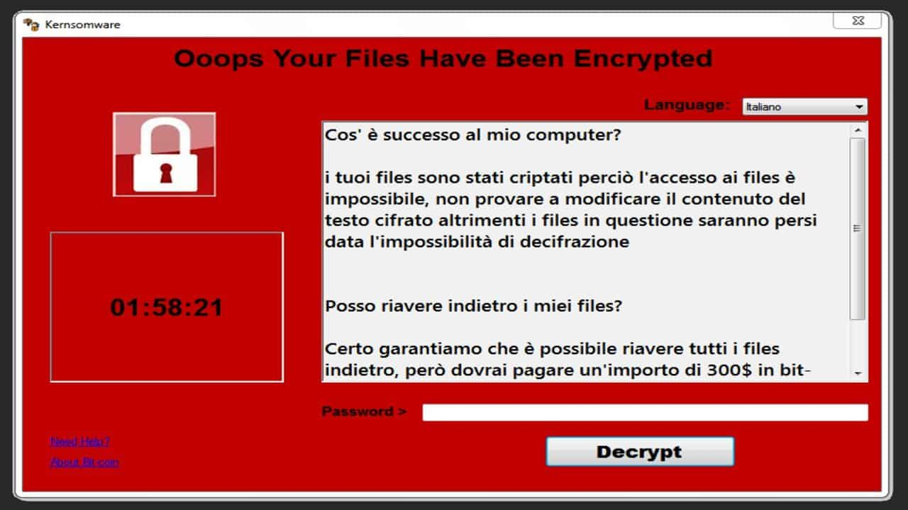 kernsomware virus