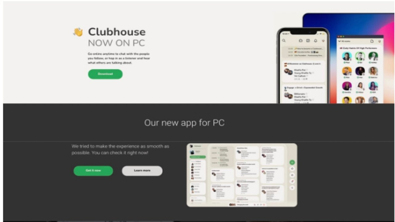 clubhouse pc facebook