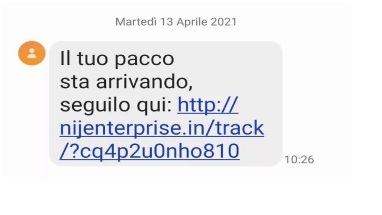 truffa sms pacco