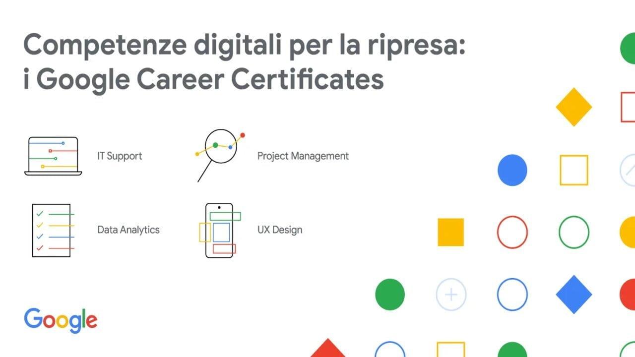 google career certificates italia