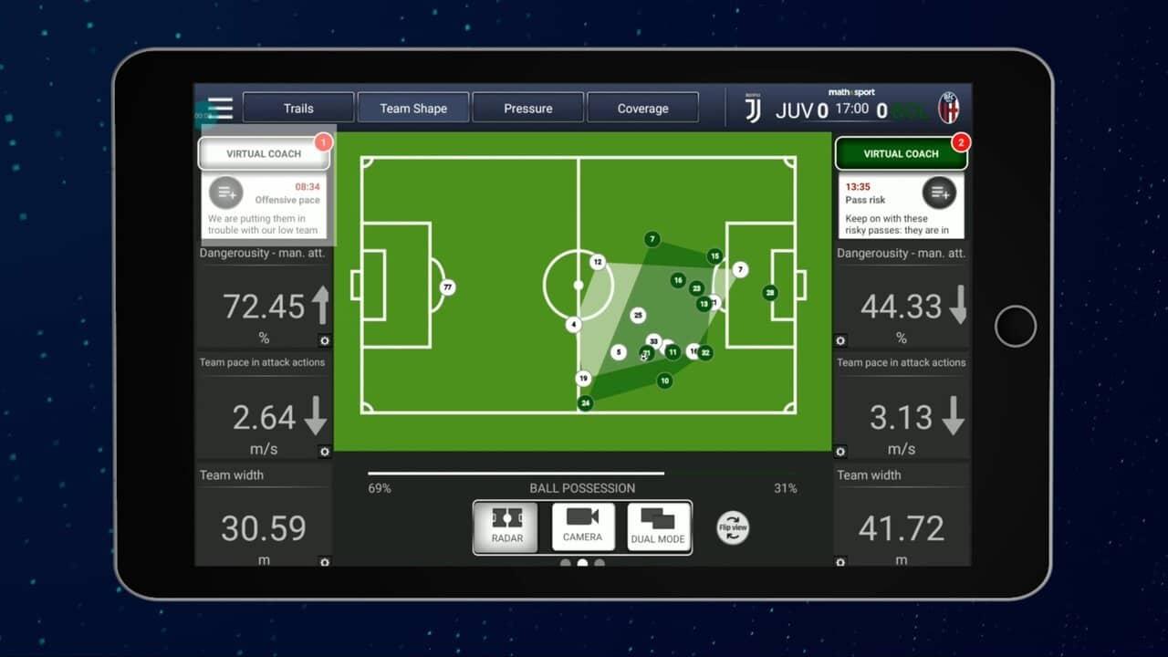 virtual coach algoritmo calcio