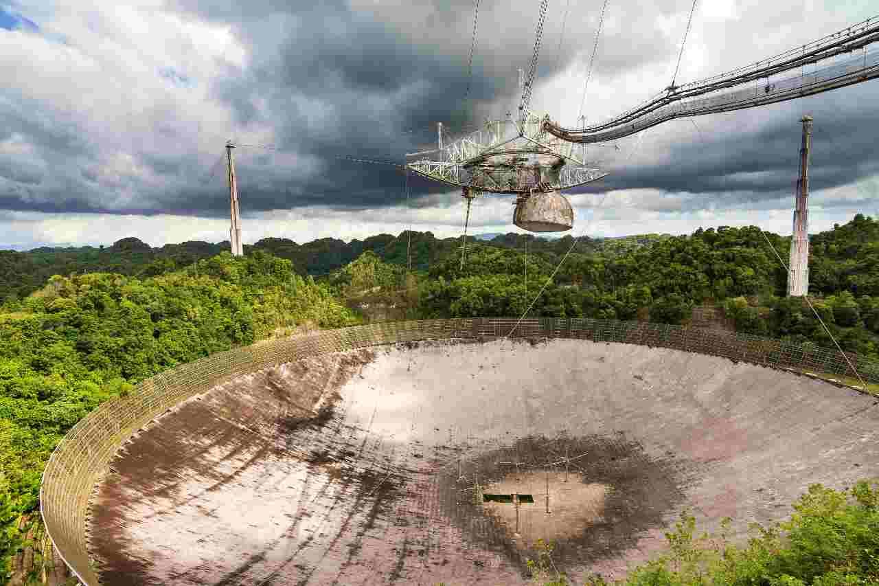 Il radiotelescopio di Arecibo, collassato a dicembre 2020 - MeteoWeek.com